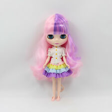 """12"""" Neo Blythe Doll Mix Pink Hair Nude Doll from Factory JSW24009+Gift"""