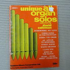 Unique al organe solos David Coleman