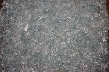 "FIREGLASS - FIREPIT GLASS - 1/4"" CLEAR TEMPERED CRUSHED GLASS! 15 LBS FREE SHIP!"