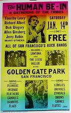Human Be-In Poster 1967 A Gathering of the Tribes Santana Steve Miller Band ...