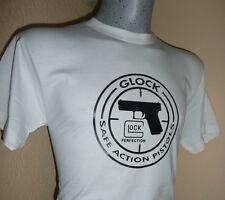 T SHIRT blanc pistolet GLOCK Original M L XL XXL  tar tir tee AIRSOFT PAINTBALL