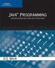 Java Programming: Program Design Including Data Structures by Malik, D. S.