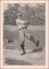 THE DUFFER, GOLF, GOLFER TAKE SWING by A B Frost, antique print 1904