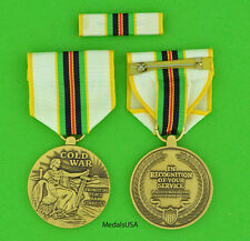 COLD WAR VICTORY MEDAL & RIBBON  BAR for all U.S. Veterans serving 1946-1991