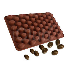 55 Mini Coffee Beans DIY Silicone Cake Chocolate Sugar Candy Soap Baking Mould