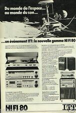 Publicité advertising 1978 Chaine Hi-Fi 80 ITT