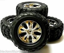 BS908-002 1/10 Scale Off Road Wheels Tyres RC Nitro Monster Truck x 4
