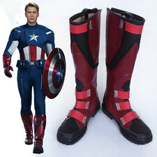 New Superhero Movie The Avengers 1 Captain America Steve Cosplay Boots Shoes