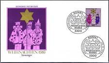 BRD 1983: Sternsinger! FDC der Weihnachtsmarke Nr 1196 mit Bonner Stempeln! 156