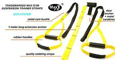 MaxGym® Suspension Body trainer. MMA Training crossfit duo system