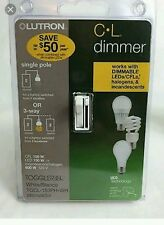 Lutron   Toggler 150-Watt Single-Pole/3-Way CFL-LED Dimmer - White