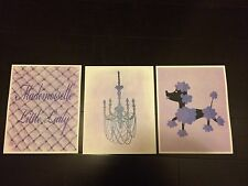 Girls Baby Shabby French Chic Nursery Pictures Unframed Purple & White