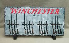 Vintage Winchester Shotgun Models on Slate Stone Plaque with Stand -Trap / Field
