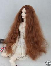 "Womens BJD Doll Wig 5-6"" 1/6 SD Doll Brown Long Wig Straight Hair Toys"