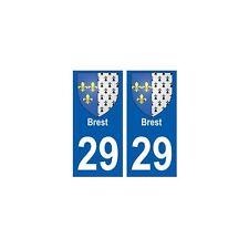 29 Brest blason autocollant plaque stickers ville arrondis