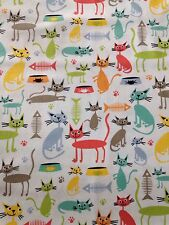Cat & Kaboodle Kitty Cats fabric material Michael Miller PC6287 Fat quarters