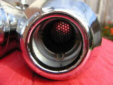 "ONE 17"" REVERSE CONE CHROME SHORTY MEGAPHONE SILENCER CUSTOM CAFE RACER"