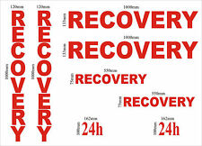 Recovery vinyl graphics kit 8 pièces, truck camion stickers decals diy signe making