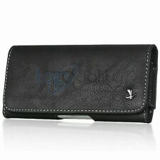 Black Leather Belt Clip Horizontal Holster Pouch Case for Apple iPhone 5 5C 5S