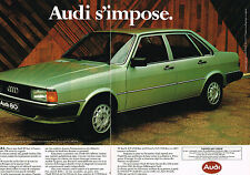 PUBLICITE ADVERTISING 094  1979  AUDI 80  GLS  ( 2 pages)