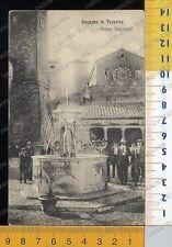 39748] PERUGIA - LUGNANO IN TEVERINA - PIAZZA NAZIONALE  1915