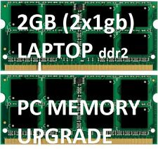 2GB = 2 x 1gb LAPTOP Memory DDR2 ram NOTEBOOK acer DELL HP COMPAQ HP530 CQ60 G60