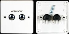 "Av Placa de pared, 1 Gb, 2 X 6,35 Mm 1/4 ""de Audio Mono Jack sockets para soldadura Conectores"
