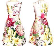 TED BAKER LONDON Nude Pink Gemisa Encyclopedia Floral Dress Size 2 (US 6) $375