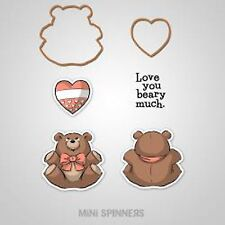 Baby Bear, MINI SPINNERS Unmounted Stamp & Die Set ART IMPRESSIONS - NEW, 4736