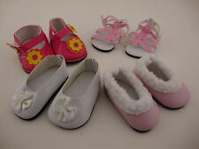 A Set of 4 Pair of Great Shoes for the 18 Inch Doll Like the American Girl Doll