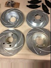 94-98 MUSTANG GT/V6 COMPLETE SHORT STOP BRAKE ROTOR AND PAD KIT FREE SHIPPING!!