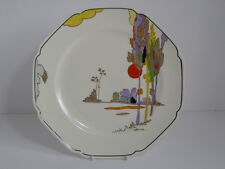 "Rare Tams Ware Art Deco Woodland 9 3/4"" Dinner Plate - Plate B"