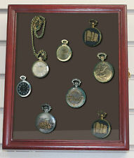 Display Case Shadow Box Cabinet  for Pocket Watches , Wall Mount  W-KC02-CH
