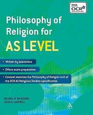 Philosophy of Religion for AS Level by Michael B. Wilkinson, Hugh N. Campbell...