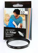 Filtro Multicapa UV 52mm Vivitar para Canon Nikon Sony Pentax Olympus Fuji Sigma