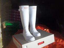 HUNTER WELLINGTONS IN HALIFAX & BRADFORD  WHITE  ORIGINAL LADIES TALL SIZE 5