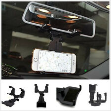 Car Rearview Mirror Smartphone Cell Phone Mechanical clamp Holder Stand Mount