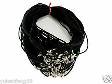 Wholesale 10pcs Black Suede Leather String 20 inches (50cm) Necklace Cords