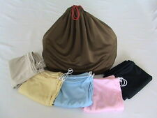 6 PCS Silky Micro Fiber Handbag Purse Dustbag Cover XL-22x20 Classic No logo