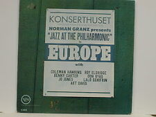 Hawkins/ Carter - Jazz At The Philharmonic in Europe, Verve V-8541, 1963 Mono LP