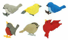 Feathered Friends Birds BUTTONS              NEW