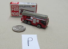 Tomica Capsule Pocket Cars #108 Hino Aerial Ladder Fire Truck MIB US Seller