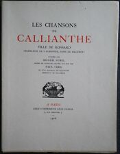 Léon PICHON Chansons Callianthe Bois PAUL VERA 1/30 JAPON IMPERIAL suite Chine