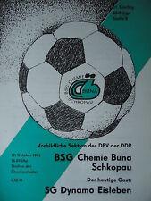 Programma 1986/87 BSG Chemie Buna Schkopau-DINAMO Eisleben