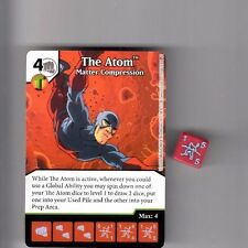 DICE MASTERS DC GREEN ARROW & FLASH UNCOMMON CARD #77 THE ATOM MATTER W/DICE