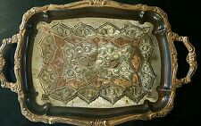 "Vintige Turkish Copper Engraved Plate Wall Art or Tra14.5""×9.5"""