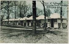 Ottawa Tent Colony IL Row of Cottages Mailed to Johnson in Roland Iowa 1910