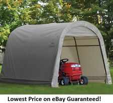 ShelterLogic 10x10x8 Round Economy Storage Shed Portable Garage Canopy 70435