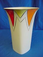 EMMA BAILEY HARLEQUIN BUNTING SQUARE VASE ENGLISH MADE STAFFORDSHIRE BONE CHINA