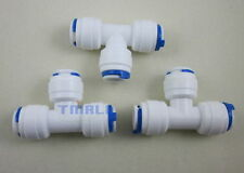 """3pcs 3/8"""" 3-way Union Tee Tube Quick Connect Push Fit RO Water Reverse Osmosis"""